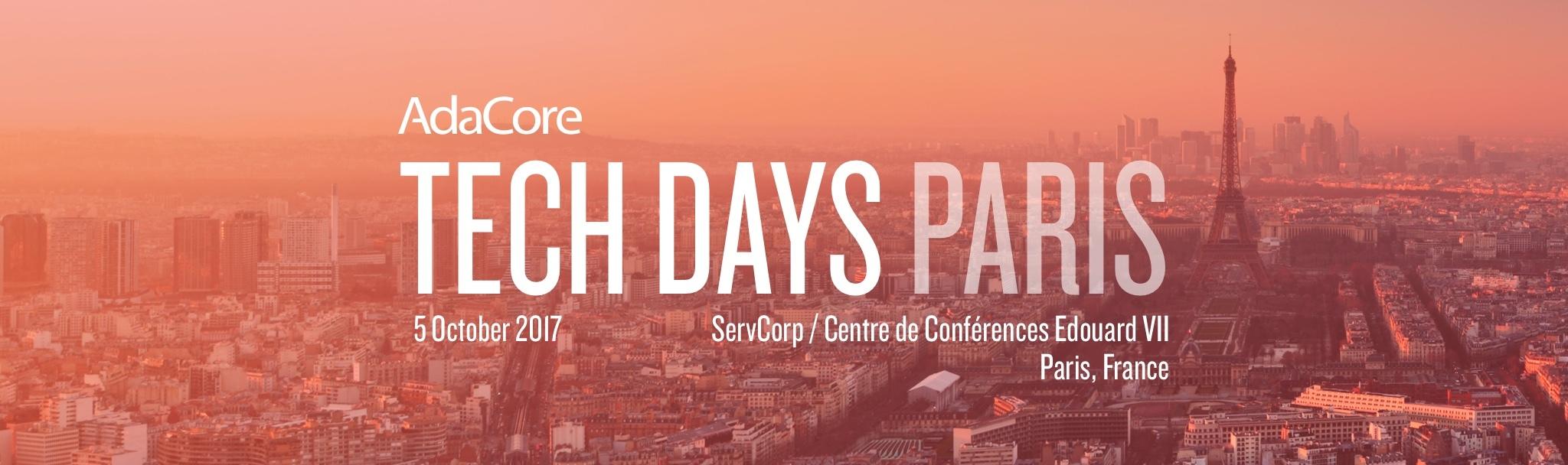 Tech Days Paris2017